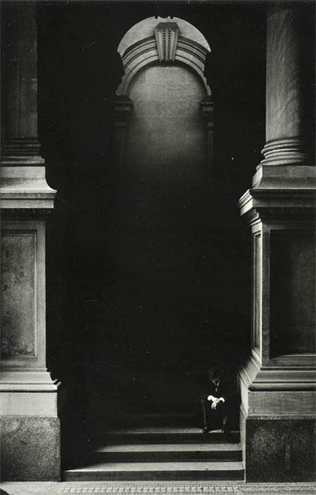 supruntu:  George Krause, Untitled (Man on Stairs), 1960s