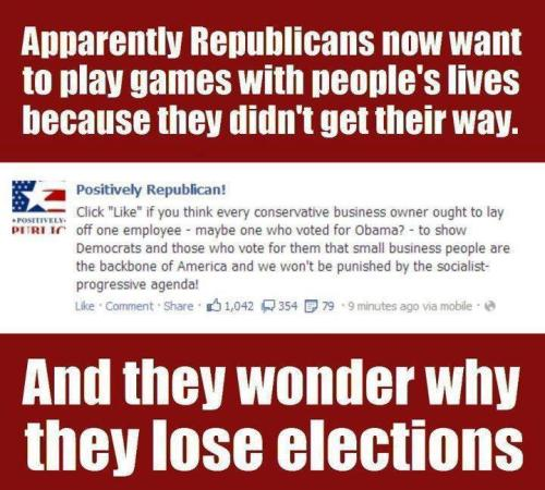 haileyeliah:  end-the-republican-mafia:  I don't care what party you are this is just vindictive bullshit!  lolwat  #and this is why I dislike people who say they identify with the modern republican party of the past six or so years #sure not all of you are like this #but the ones who aren't never call people out#you're letting it happen