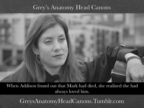 #379 When Addison found out that Mark had died, she realized she had always loved him.