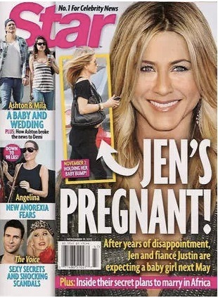Oh, Star magazine… you do love this story. Once again Star is claiming that Jennifer Aniston is pregnant and once again Jennifer's rep has denied the rumor.