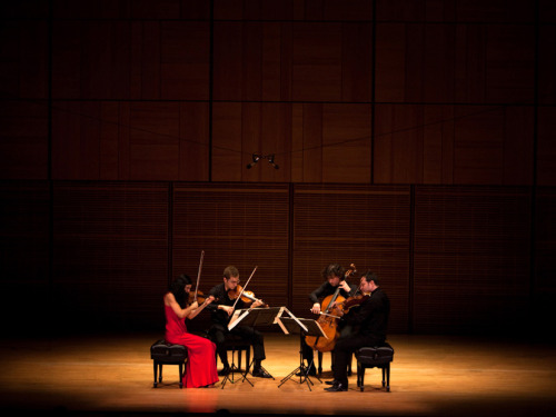 Hear the acclaimed Belcea Quartet perform two of Beethoven's grand and enigmatic final string quartets, from WQXR. Photo: Melanie Burford/NPR