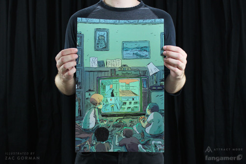 "idrawnintendo:  My new print, ""Remote Mines in the Complex"" (previously exhibited at the Fangamer Vs. Attract Mode show during PAX) is finally available from my store!"