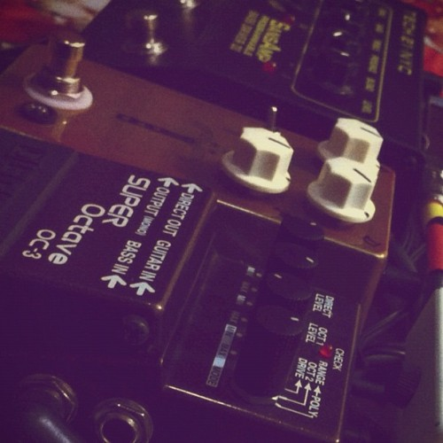 Pedalboard @jhspedals #morning #glory #pedals #overdrive #boss #octave #fx #effects #sansamp #pedalboard #board