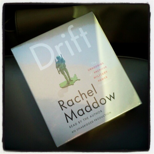 Maine to Rochester, NY trip begun. Rachel @Maddow will be reading #Drift to us :)