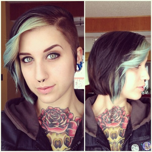 skatelin:#InkedDoll  Went to the hairdresser for the first time in years today, got rid of my mullet tail, now I'm set to start growing this shit out!