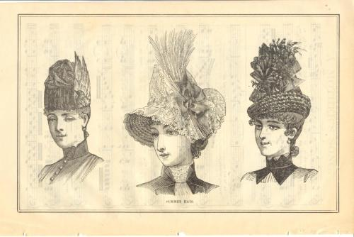 Hats (!) from Peterson's Magazine, August 1887