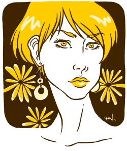 Daisy Hand drawn and inked; colors on Photoshop©tatiartsy.com 2011