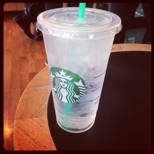 The most popular and expensive drink on Starbucks' menu. #h2o (at Starbucks)