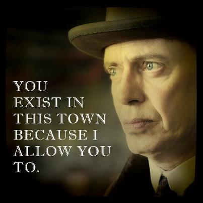 "Gillian flat-out accuses Nucky of killing her son, and he flat-out denies it. She starts to get emotional when it comes to the ""promises"" Nucky made, to Jimmy and to her, which is when I get on her side a little bit. What a betrayal, to have the man who promised to protect your little boy turn out to be his killer. Of course, in between those two things was the part where your little boy tried to murder his protector, at your Lady Macbeth-ian urging. So: a tie, I guess?  - Joe R, Boardwalk Empire 3-8 ""The Pony"" Recap"
