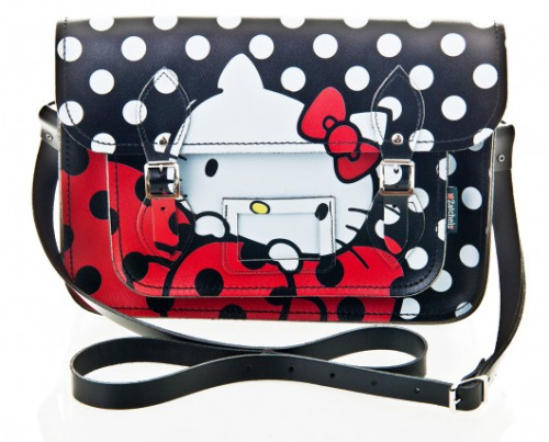 Hello Kitty x Zatchels  Could the best bag I could ever imagine finally be released soon! The Hello Kitty and Zatchels collaboration is coming out just in time for the Holiday Season! Maybe my certain someone will take this post as quite the hint?! Cough Cough! My favorite one is this black and white polka dot with giant red bow and Hello Kitty face! What's yours?! http://www.zatchels.com
