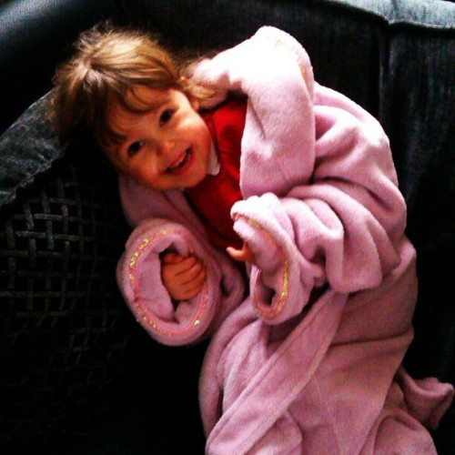 """It's my dressing gown now aunty Nic"" My lovely niece makes me smile so much :) #family"