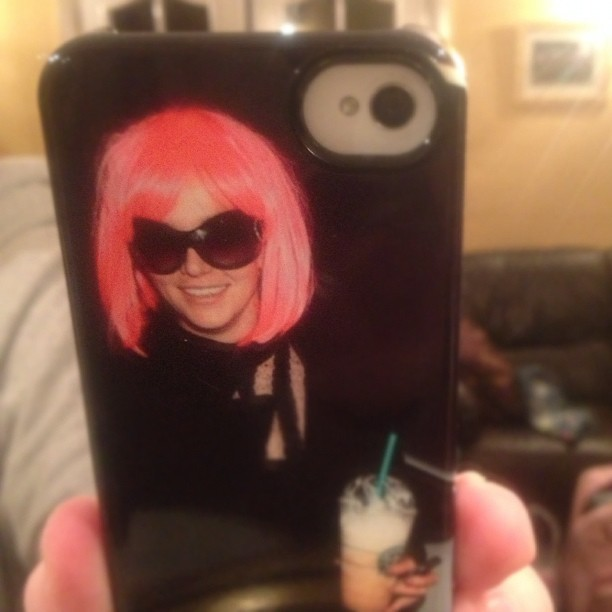 My Britney Spears phone case :,)