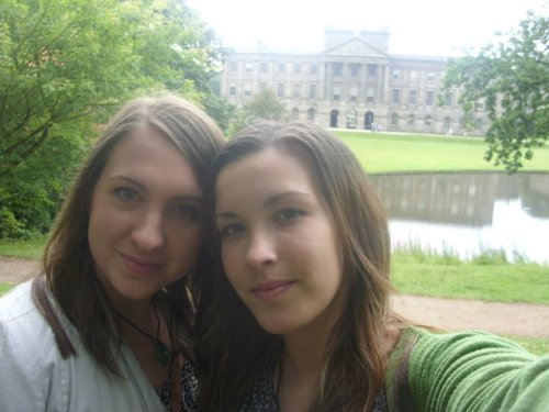 Me and my friend Amy at the beautiful Lyme Park! This stately home was the home of Colin Firth during his time playing Mr Darcey! The place is absolutely stunning!