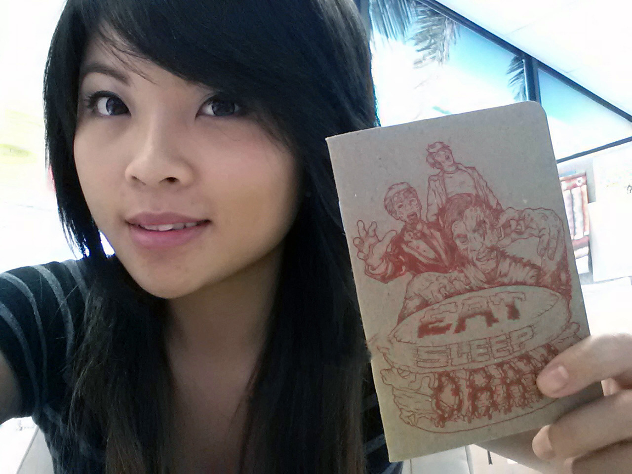 fruitsushi555:  My Zomburger Mini Sketchbook for Hurricane Sandy Relief :)