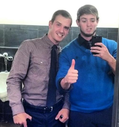 Wesley and I (on the right) looking studly as fuuuuck! Watch out world! ;)