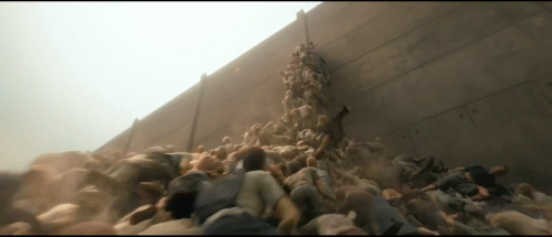 Judging from the World War Z trailer, the movie has very little to do with Max Brooks's novel. For example, waves of extremely fast zombies here are forming a pyramid to get over a wall… Yeah.