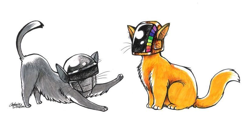 mundorarunorl:  Daft Cats  oh, look, it's my old art again, unsourced as usual and getting lots of notes :T