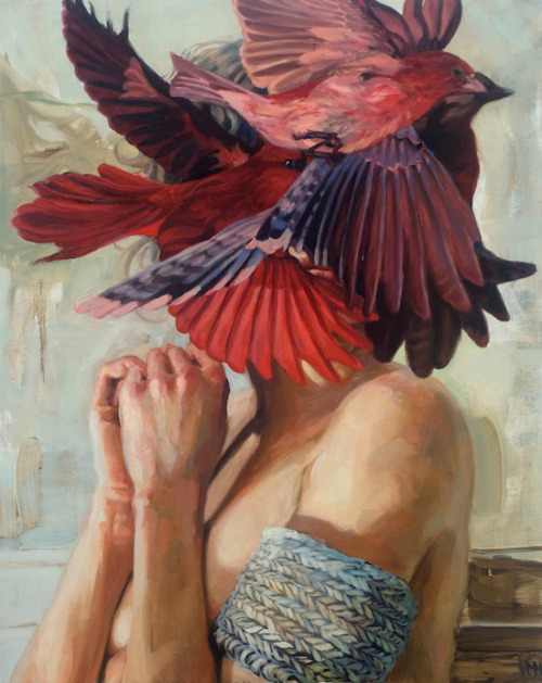 2headedsnake:  Meghan Howland Pestilence, 2012, oil on canvas, 20 x 16 inches