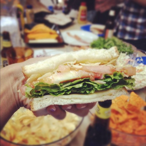 Look at my sammich. Just look at it.