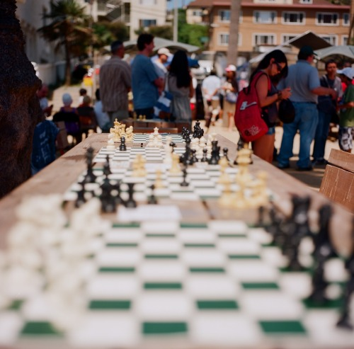 """Chess #3"" Santa Monica, California July 2012 Hasselblad 500 C/M"