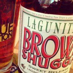 Sweet release, indeed. #brownshugga #lagunitas
