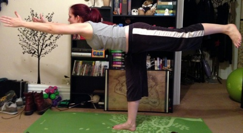 Today's pose:  Warrior III (Virabhadrasana III)