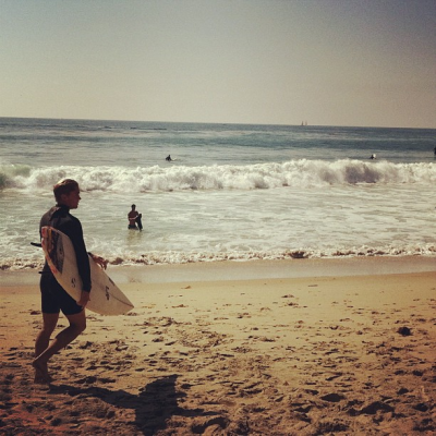 Laguna Beach is a cool place to go surfing because the beaches are less crowded and gets some good waves. The city is beautiful to explore as well.  The reason why Laguna Beach gets less visitors is because of the traffic congestion to get in from the 133. But if you go during the week after commuter hours, you should arrive easily.