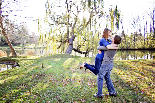 hollyannephoto:  sneak peek of today's virginia tech engagement session - ryan and natalie at the duck pond!