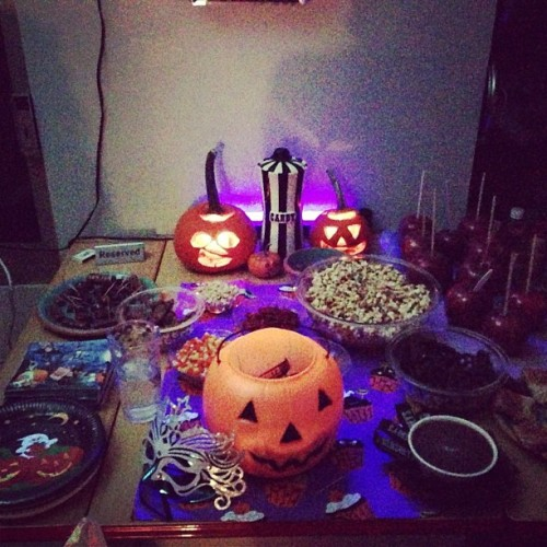 Lazy Halloween Leftover Party… (at Nick's Shack Pad)