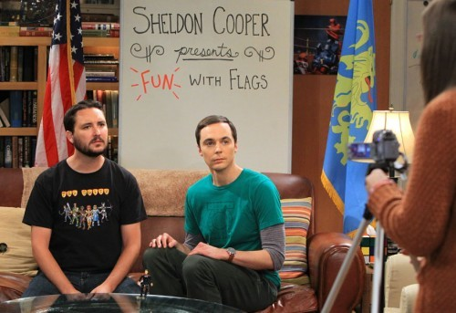 greta939:  Wil Wheaton wearing The Guild t-shirt on Big Bang Theory.