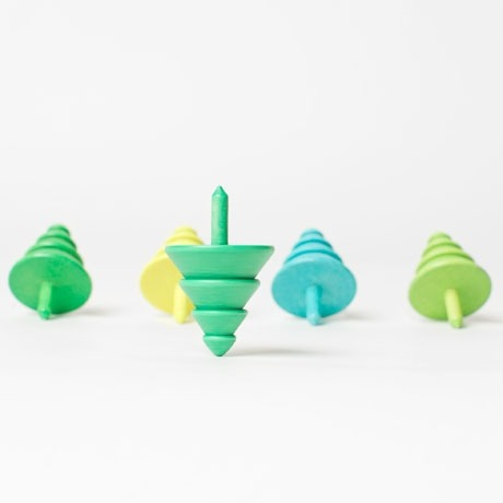 Evergreen Tree Spinning Tops