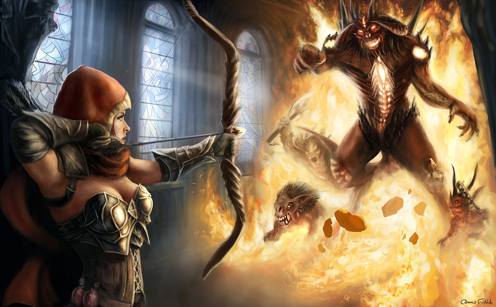 fanartfordays:  Diablo - Final Battle by ~Jorsch ~Kayla