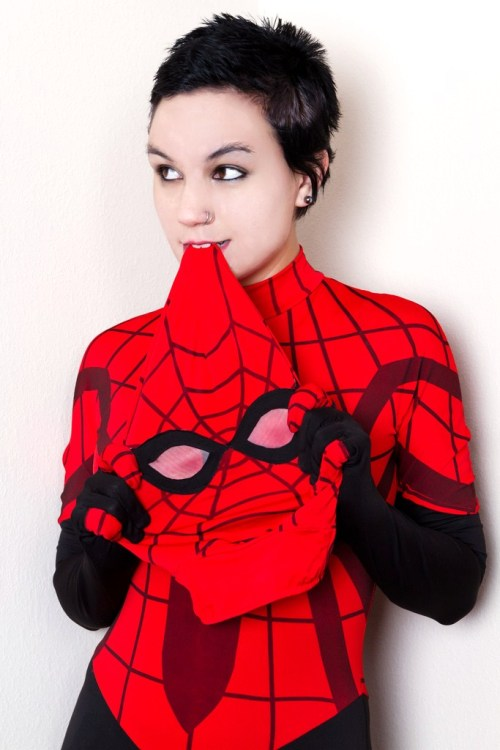 comicbookcosplay:  Thewicked Deviant as The Amazing Spider-Girl, Mayday Parker Submitted by kissingblacklips