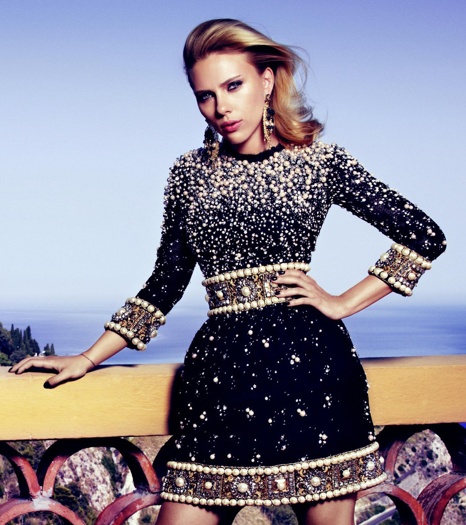 Scarlett Johansson - Vogue Russia by Victor Demarchelier, October 2012