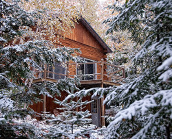 ensphere:  Winter in the northwoods by sci_guy on Flickr.