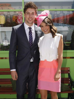 "'I AM STARSTRUCK'S SPRING RACING CARNIVAL UPDATES - 2012 'EMIRATES STAKES DAY' : LINCOLN YOUNES & RHIANNON FISH        With opportunities to see hot frocks and shocks in the fashion stakes, complete with fascinators and hats galore, it is no wonder that the Spring racing carnival season is a must-attend event period for Australians!        And oh yes, watching those record breaking thoroughbreds (and hoping your bet was worth it) is all a part of the excitement aswell!        This is 'I Am Starstruck' editor Leeshie's FAVE time of the year so we will be updating you on all fun & fabulous things ""Spring Racing"" throughout the 2012 carnival.  Enjoy!        Your fave Aussie stars are celebrating the final day of Melbourne Cup Carnival at Emirates Stakes Day at Flemington Racecourse.  We're posting the hottest pics here throughout the day so you don't miss out on any of the action!        Image Source: Herald Sun"