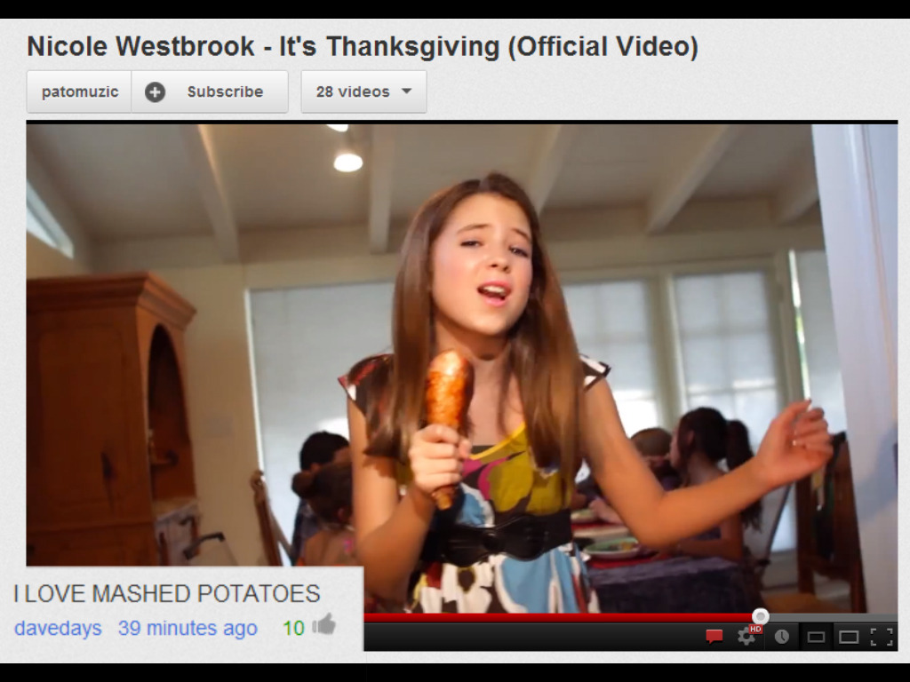 megannicoleisbea-utiful:  Dave's comment…I love mashed potatoes too! :-)