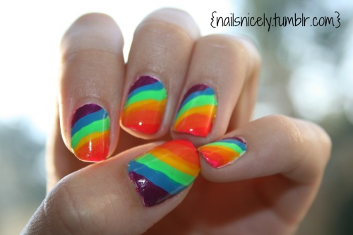 Rainbow stripes! I used this for the rainbowness, not the cheetah print :)