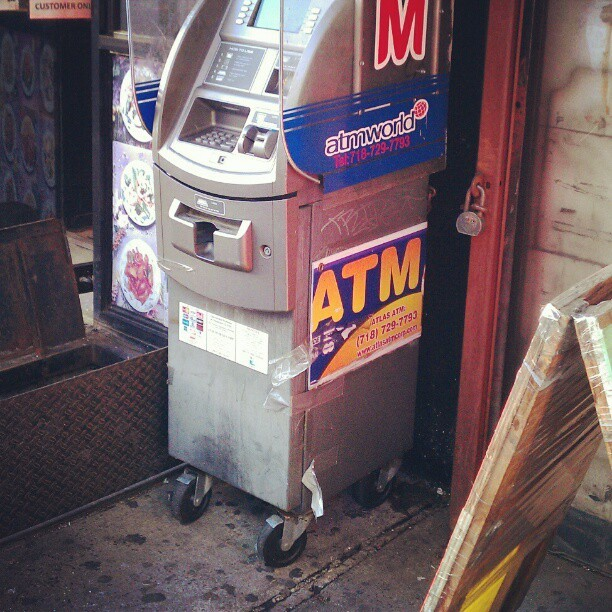 Word of advice, never use an ATM that has wheels