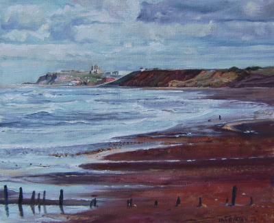 Whitby Abbey from Sands End (cloudy) by Captain Wakefield on Flickr.Oil 12 inches by 10 inches