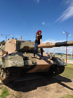 My girl on a tank xD