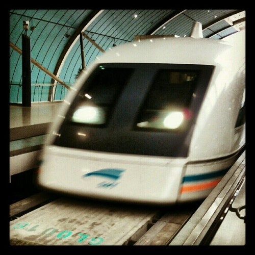 PVG at 300km/h, via maglev