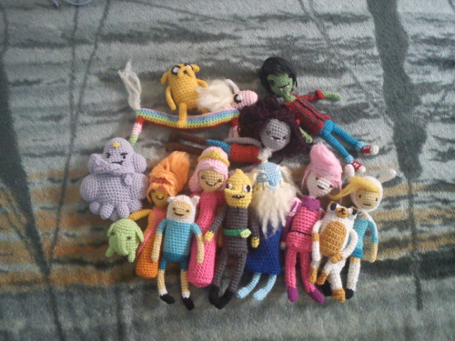 fyeahadventuretime:  here's some of my crochetted adventure time dolls, thanks for looking :) Submitted by m4lic3inw0nd3rl4nd