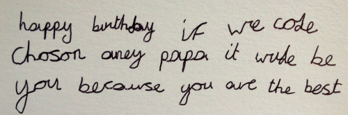 My favourite birthday card!  I had the most wonderful birthday at home with our three children. Life isn't always plain sailing but this message confirmed that we are at least on the right course!