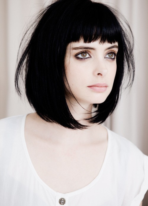 Consider, that Black hair with fringe