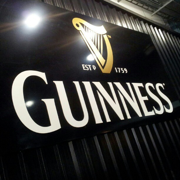 At the brewery.  (at Guinness Storehouse)