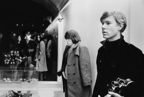 (theswinginsixties)  Brian Jones and Andy Warhol in New York City, 1965.