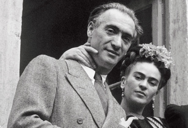 Frida Kahlo and photographer Nickolas Muray whom she had an affair with in the 1930s.