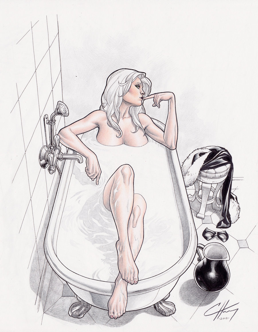 lulubonanza:  Black Cat colored pencil by ~Clayton-Henry