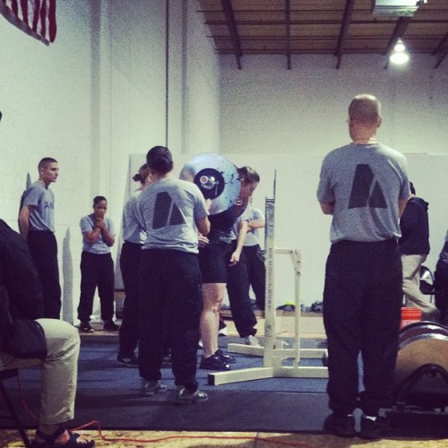 My view for today from the Scorer's Table #mdstatechampionship #usapowerlifting  (at Crossfit Diesel)